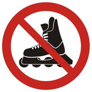 GB037 - Zakaz jazdy na rolkach - znak bhp zakazujący