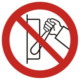 GB041 - Zakaz uruchamiania maszyny (urządzenia) - znak bhp zakazujący