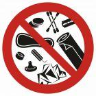 GB043 - Zakaz wrzucania do toalety - znak bhp zakazujący