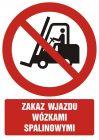 GC011 - Zakaz wjazdu wózkami spalinowymi - znak bhp zakazujący