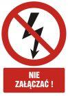GC028 - Nie załączać ! - znak bhp zakazujący
