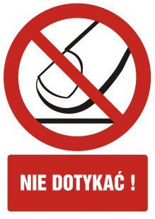 GC034 - Nie dotykać - znak bhp zakazujący