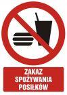 GC036 - Zakaz spożywania posiłków - znak bhp zakazujący