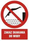 GC040 - Zakaz skakania do wody - znak bhp zakazujący