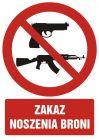 GC042 - Zakaz noszenia broni - znak bhp zakazujący