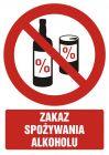 GC049 - Zakaz spożywania alkoholu - znak bhp zakazujący