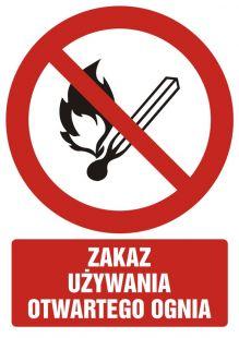 GC054 - Zakaz używania otwartego ognia - znak bhp zakazujący
