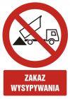 GC056 - Zakaz wysypywania - znak bhp zakazujący