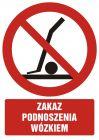 GC057 - Zakaz podnoszenia wózkiem - znak bhp zakazujący