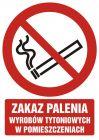 GC068 - Zakaz palenia wyrobów tytoniowych w pomieszczeniach - znak bhp zakazujący