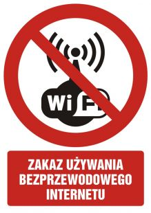 GC069 - Zakaz używania bezprzewodowego internetu - znak bhp zakazujący