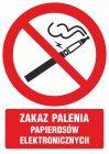 GC070 - Zakaz palenia papierosów elektronicznych - znak bhp zakazujący