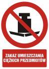GC079 - Zakaz umieszczania ciężkich przedmiotów - znak bhp zakazujący