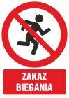 GC10 - Zakaz biegania - znak bhp zakazujący - GC100