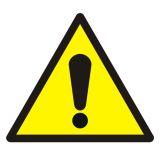 GDW001 - Ogólny znak ostrzegawczy - znak bhp ostrzegający - Substancje łatwopalne – piktogramy CLP