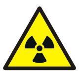 GDW003 - Ostrzeżenie przed materiałem radioaktywnym lub promieniowaniem jonizującym - znak bhp ostrzegający - Znaki BHP w miejscu pracy (norma PN-93/N-01256/03)