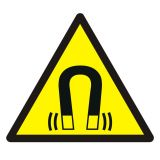 GDW006 - Ostrzeżenie przed silnym polem magnetycznym - znak bhp ostrzegający - Znaki bezpieczeństwa – obowiązki pracodawców