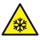 GDW010 - Ostrzeżenie przed niską temperaturą / warunkami zamarzania - znak bhp ostrzegający