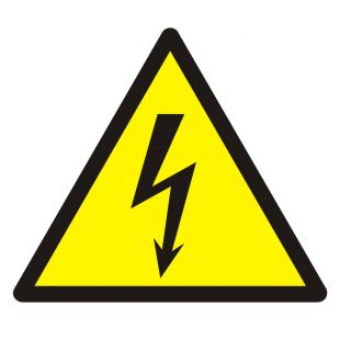 GDW012 - Ostrzeżenie przed napięciem elektrycznym - znak bhp ostrzegający