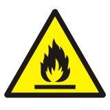 GDW021 - Ostrzeżenie przed substancjami łatwopalnymi - znak bhp ostrzegający - Stocznia – bezpieczeństwo i higiena pracy
