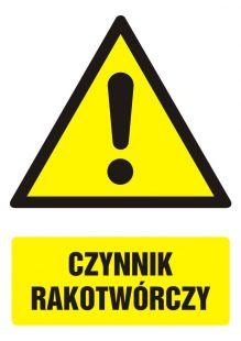 GF004 - Czynnik rakotwórczy - znak bhp ostrzegający, informujący
