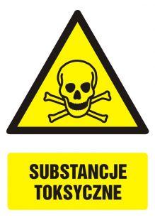GF005 - Substancje toksyczne - znak bhp ostrzegający, informujący