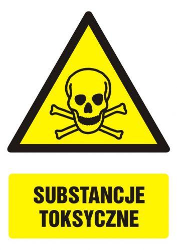 GF005 - Substancje toksyczne - znak bhp ostrzegający, informujący - BHP na terenie zakładu pracy
