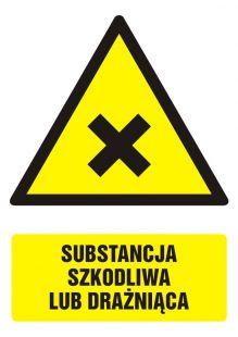 GF028 - Substancja szkodliwa lub drażniąca - znak bhp ostrzegający, informujący