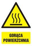 GF033 - Gorąca powierzchnia - znak bhp ostrzegający, informujący - Ostrzegawcze znaki BHP a zagrożenia w miejscu pracy