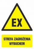 GF040 - Strefa zagrożenia wybuchem - znak bhp ostrzegający, informujący - Znaki antystatyczne, kopalnie
