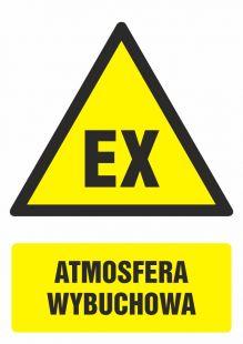 GF049 - Atmosfera wybuchowa - znak bhp ostrzegający, informujący
