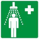 GG002 - Prysznic bezpieczeństwa - znak bhp informujący