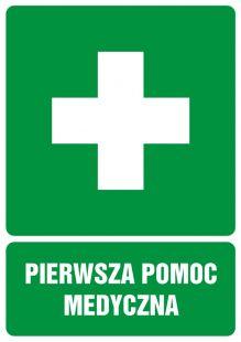 GI001 - Pierwsza pomoc medyczna - znak bhp informujący