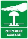 GI005 - Zatrzymanie awaryjne - znak bhp informujący - Znaki BHP w miejscu pracy (norma PN-93/N-01256/03)