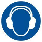 GJM003 - Nakaz stosowania ochrony słuchu - znak bhp nakazujący