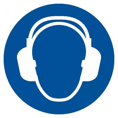 GJM003 - Nakaz stosowania ochrony słuchu - znak bhp nakazujący - Ochrona słuchu