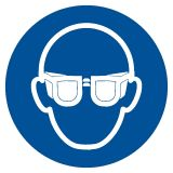 GJM004 - Nakaz stosowania ochrony oczu - znak bhp nakazujący - Stocznia – bezpieczeństwo i higiena pracy
