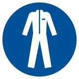 GJM010 - Nakaz stosowania odzieży ochronnej - znak bhp nakazujący - Substancje i mieszaniny samoreaktywne