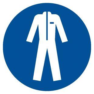 GJM010 - Nakaz stosowania odzieży ochronnej - znak bhp nakazujący