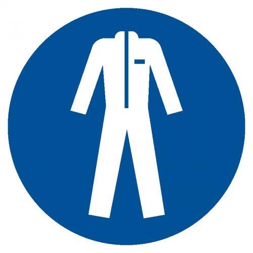 GJM010 - Nakaz stosowania odzieży ochronnej - znak bhp nakazujący - Odzież chroniąca przed wysoką temperaturą