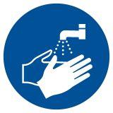 GJM011 - Nakaz mycia rąk - znak bhp nakazujący - Warunki higienicznosanitarne w miejscu pracy
