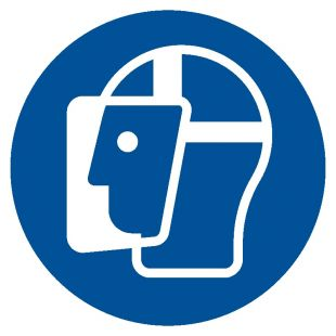 GJM013 - Nakaz stosowania ochrony twarzy - znak bhp nakazujący