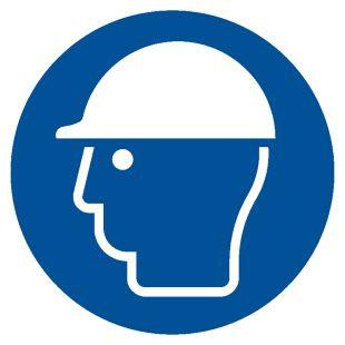 GJM014 - Nakaz stosowania ochrony głowy - znak bhp nakazujący