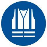 GJM015 - Nakaz stosowania kamizelki odblaskowej - znak bhp nakazujący - Ryzyko zawodowe a przepisy BHP