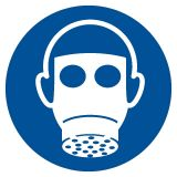 GJM017 - Nakaz stosowania ochrony dróg oddechowych - znak bhp nakazujący - Substancje i mieszaniny samoreaktywne