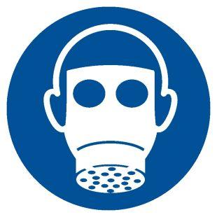 GJM017 - Nakaz stosowania ochrony dróg oddechowych - znak bhp nakazujący