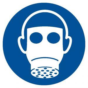 GJM017 - Nakaz stosowania ochrony dróg oddechowych - znak bhp nakazujący - BHP przy pracach w zbiornikach
