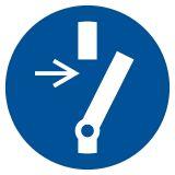 GJM021 - Odłącz przed przystąpieniem do konserwacji lub naprawy - znak bhp nakazujący, informujący - Znaki BHP w miejscu pracy (norma PN-93/N-01256/03)