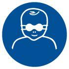 GJM025 - Nakaz ochrony wzroku dzieci przyciemnianymi okularami ochronnymi - znak bhp nakazujący