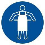 GJM026 - Nakaz stosowania fartucha ochronnego - znak bhp nakazujący - Lokal gastronomiczny – o jakich znakach należy pamiętać?